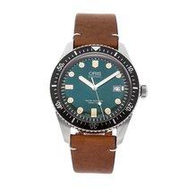 Oris Divers Sixty Five rabljen 42mm Zelen Datum, nadnevak Koza