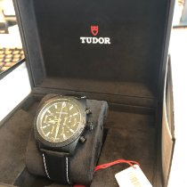 Tudor Fastrider Black Shield neu 2018 Automatik Chronograph Uhr mit Original-Box und Original-Papieren 42000CN