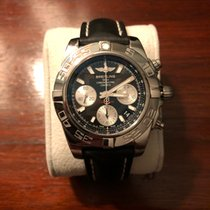 Breitling Chronomat 41 pre-owned 41mm Black Chronograph Date Calf skin