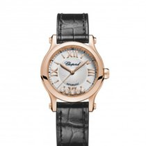 Chopard Happy Sport 30mm Automatik Roségold Leder