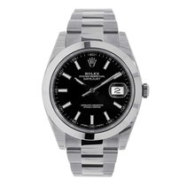 Rolex Datejust Steel 41mm Black No numerals United States of America, New York, New York