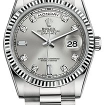 Rolex Day-Date President 18K Solid White Gold Diamonds Automatic