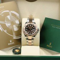 Rolex  Yacht-Master 116621 Steel & Rose Band, Chocolate Dial