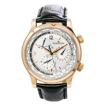 Jaeger-LeCoultre Master World Geographic Ouro rosa 42mm Prata Árabes