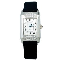 Jaeger-LeCoultre White gold Manual winding Mother of pearl Arabic numerals 33mm pre-owned Reverso Duetto