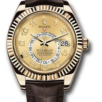 Rolex Sky-Dweller pre-owned 42mm Yellow gold