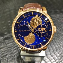 Arnold & Son HM Perpetual Moon Rose gold 42mm Blue No numerals