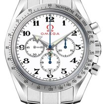 Omega Speedmaster Broad Arrow new Automatic Chronograph Watch with original box 32110425004001