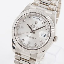 Rolex Day-Date II White gold 41mm Silver