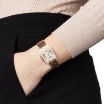 Cartier Santos Demoiselle pre-owned 26mm White Rose gold