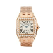 Cartier Santos Demoiselle Rose gold 26mm White Roman numerals United Kingdom, Bishop's Stortford