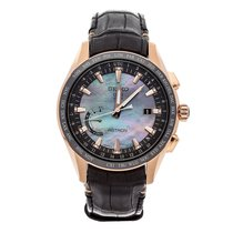 Seiko Astron GPS Solar Chronograph Rose gold 45mm Mother of pearl No numerals