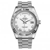 Rolex Day-Date II White gold 41mm White Roman numerals United States of America, New York, Greenvale