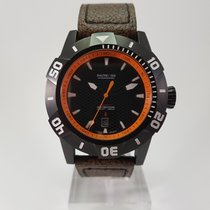 Nauticfish new Automatic Center Seconds Luminescent Hands Screw-Down Crown PVD/DLC coating 45mm Steel Sapphire crystal