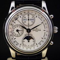 Davosa Classic Chronograph Mondphasen Automatik  Glasboden