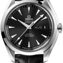 Omega Steel Automatic Black Arabic numerals 43mm new Seamaster Aqua Terra