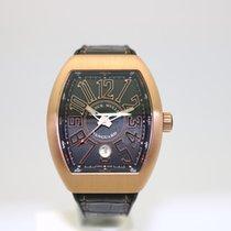 Franck Muller Vanguard 18k Rose Gold Black Automatic V 41