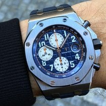 Audemars Piguet Chronograf 42mm Automatika 2014 použité Royal Oak Offshore Chronograph Modrá