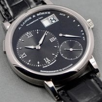 A. Lange & Söhne pre-owned Manual winding Black Sapphire Glass 3 ATM