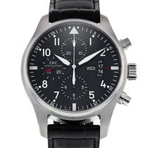 IWC Pilot Chronograph pre-owned 43mm Steel