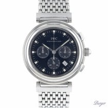 IWC Da Vinci Chronograph Steel 37mm Black No numerals
