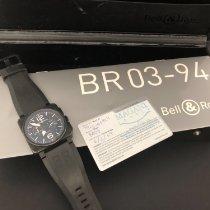 Bell & Ross BR 03-94 Chronographe usados 42mm Negro Cronógrafo Fecha Caucho