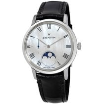 Zenith Elite Ultra Thin Steel 36mm Mother of pearl Roman numerals