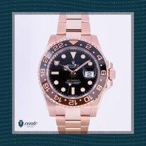 Rolex GMT-Master II Rosa guld 40mm Sort Ingen tal