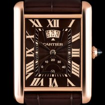 Cartier Tank Louis Cartier Rose gold 30mm Brown Roman numerals