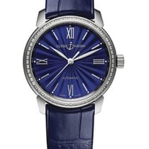 Ulysse Nardin CLASSICO LADY Steel Dial Blue Leather Blue Strap...
