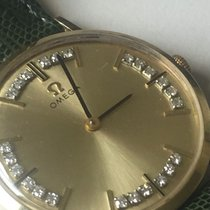 Omega men's watch 14 kt full gold set with 24 diamonds -...