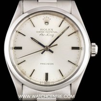 Rolex Stainless Steel Silver Dial Air-King Precision Gents 5500