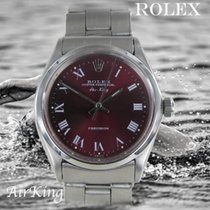 Rolex Air King Precision Steel 34.5mm Red No numerals
