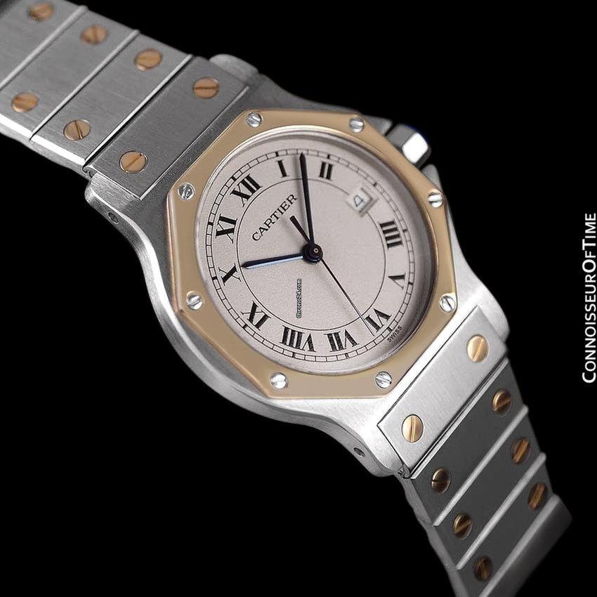 c5eff02c198 Cartier Santos Octagon Mens (Midsize) Quartz Watch - Stainless... for   2
