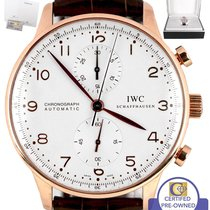 IWC MINT IWC Portuguese Chronograph 18K Rose Gold Silver 41mm...