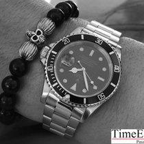 Rolex Vintage Submariner Date 16613 Blue Tritium Dial B&P  LC100