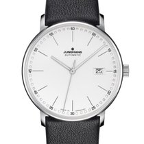 Junghans FORM A 027/4730.00 JUNGHANS FORM A bianco pelle nera new