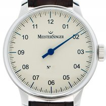 Meistersinger Steel 43mm Manual winding AM6603 new