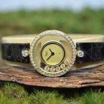 Chopard 23mm Quarz neu Happy Diamonds Gold