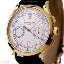 Patek Philippe Chronograph Yellow gold 40mm Silver No numerals