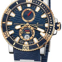 Ulysse Nardin Maxi Marine Diver gebraucht 45mm Blau Datum Kautschuk