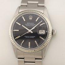Rolex Datejust 1601 black schwarz 1977 gebraucht