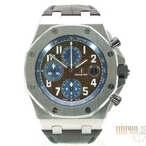 Audemars Piguet Royal Oak Offshore Chronograph Stål 42mm Brun Arabertal