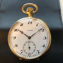 시마 Pocket Watch, Solid 18K gold, Breguet hands, Serviced - Rare 매우 우수 옐로우골드 52mm 수동감기