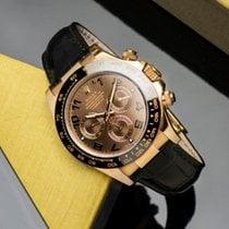 Rolex Daytona Ροζέ χρυσό 40mm Καφέ