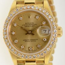Rolex Datejust President 69178 Lady's Solid 18k Gold Original...