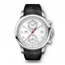IWC IW390502, Portuguese Yacht Club, White Dial, Steel & Rubber