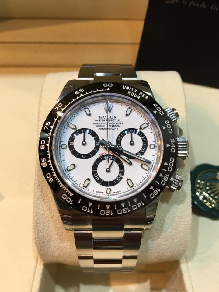 Rolex HoWong (New) 116500LN Cosmograph Daytona White Panda Dial
