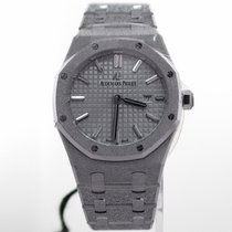 Audemars Piguet White gold Quartz Silver No numerals 33mm new Royal Oak Lady