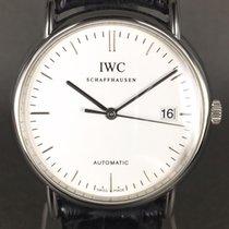 IWC Portofino ref: IW3533 steel on leather with folding clasp